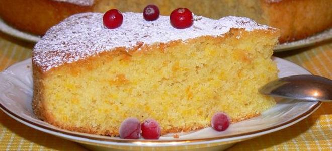 Десерт из кукурузной муки