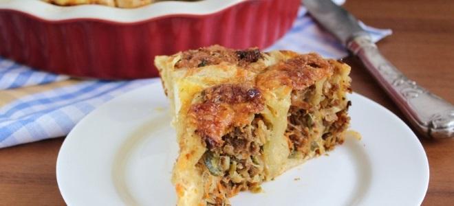 Открытый пирог на слоеном тесте в духовке - рецепт пошаговый с фото