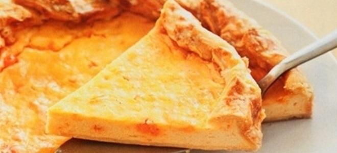 Пирог с творогом из слоеного бездрожжевого теста