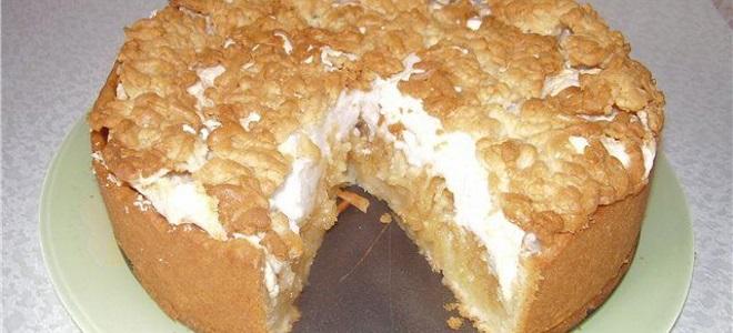 Пирог кудрявый с вареньем