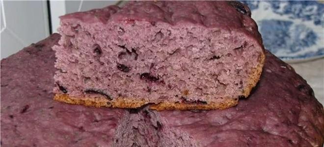 Пирог на кефире с вареньем в духовке