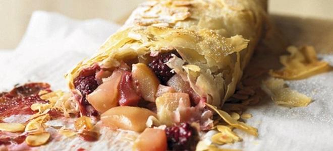Вкусный пирог с ежевикой - рецепт пошаговый с фото