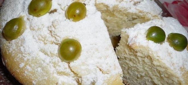 Пирог с крыжовником - рецепт пошаговый с фото