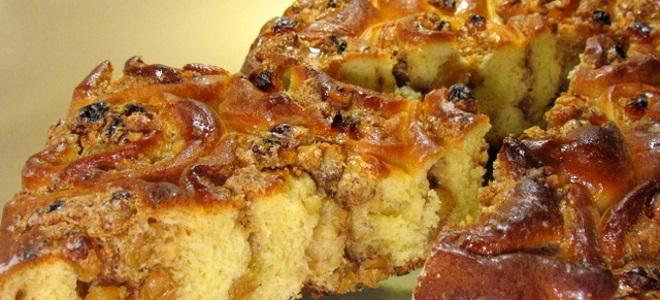 Пирог с ореховой начинкой - рецепт
