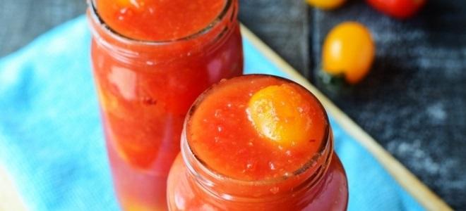помидоры черри в томате на зиму