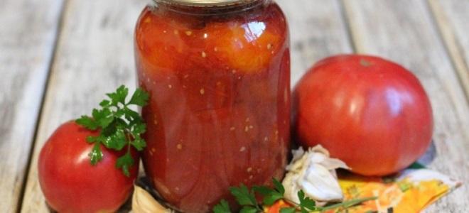 помидоры в томате без стерилизации