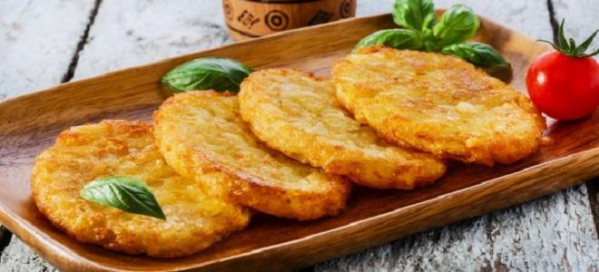 Постные картофельные оладьи на дрожжах