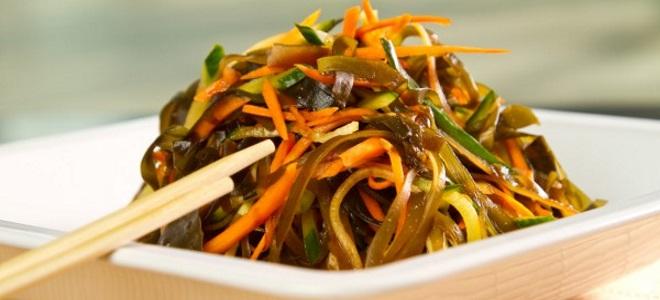 постный салат из морской капусты