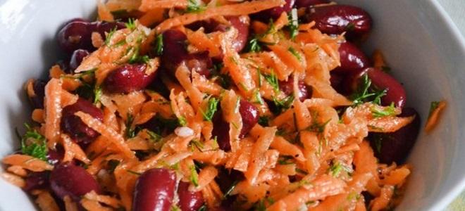 постный салат с корейской морковью