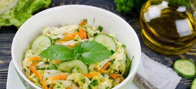 постный салат с пекинской капустой