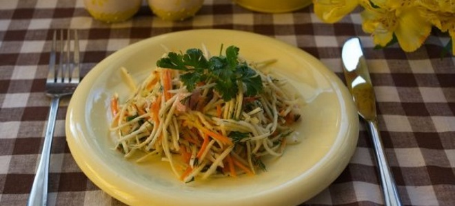 простой салат из редьки