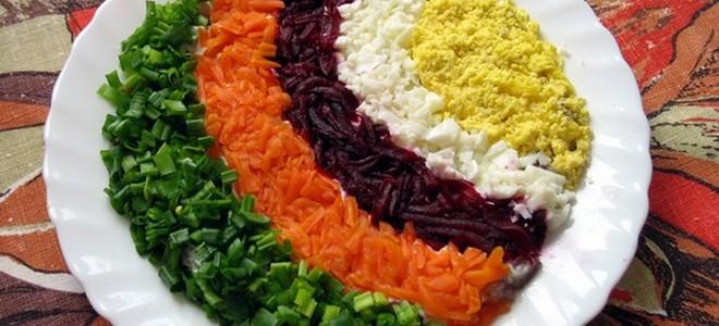 радуга салат рецепт классический