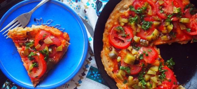 Рецепт пиццы в домашних условиях на сковороде