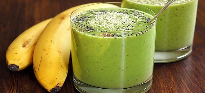 Рецепт смузи в блендере с бананом
