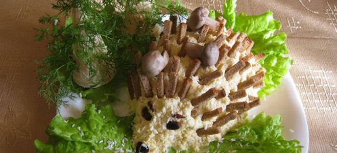 салат ежик с горошком