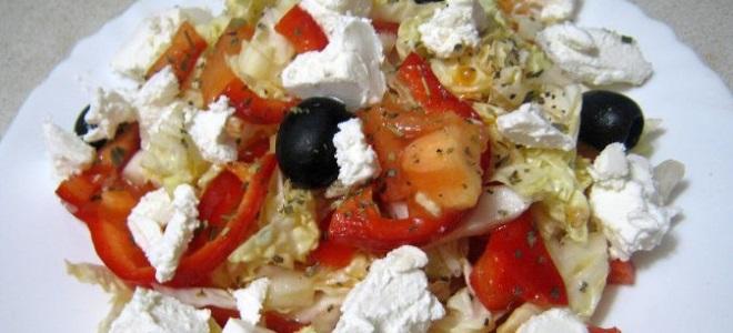 салат греческий рецепт с пекинской капустой классический