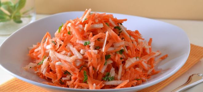 салат из моркови детям