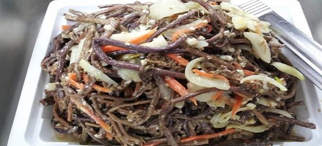 салат с папоротником свежим рецепты