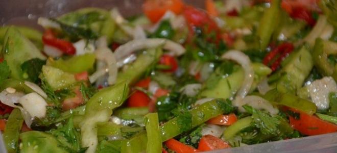 Как приготовить зеленые помидоры салат