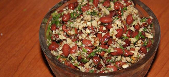 Салат лобио из красной фасоли