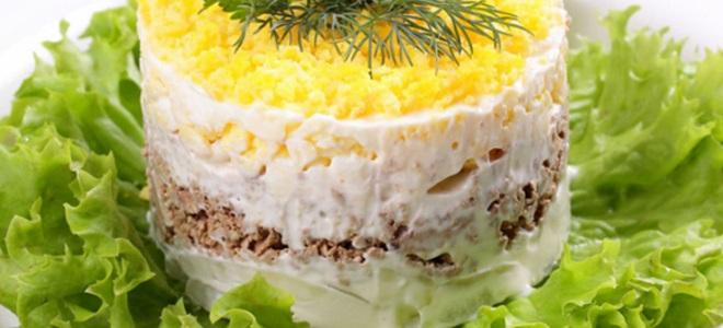 Салат из сайры консервированной рецепт