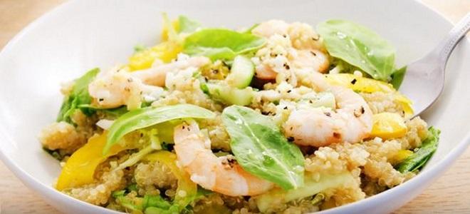 салат с киноа авокадо овощами и креветками рецепты теплой