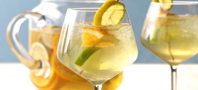 Сангрия - рецепт классический из белого вина