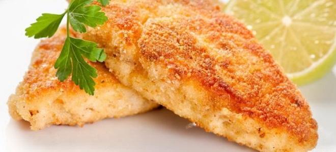 Шницель рыбный