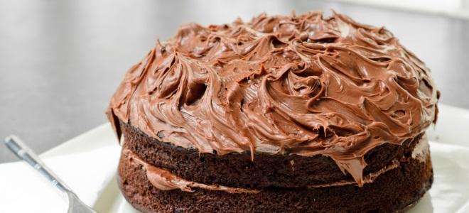 как приготовить шоколадный крем для тора