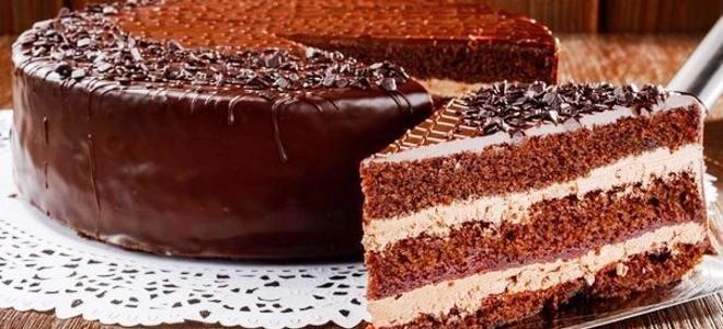 Торт в мультиварке шоколадный с бананами