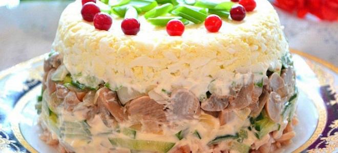 слоёные салаты с фото и рецептами