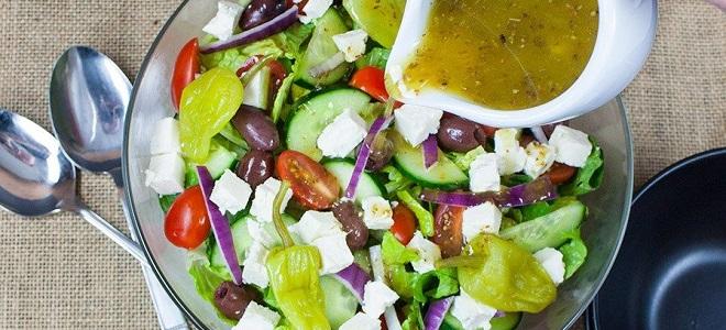 Соус для греческого салата с горчицей