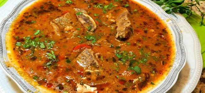 суп харчо из говядины в мультиварке