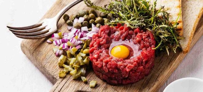Тартар из говядины - рецепт