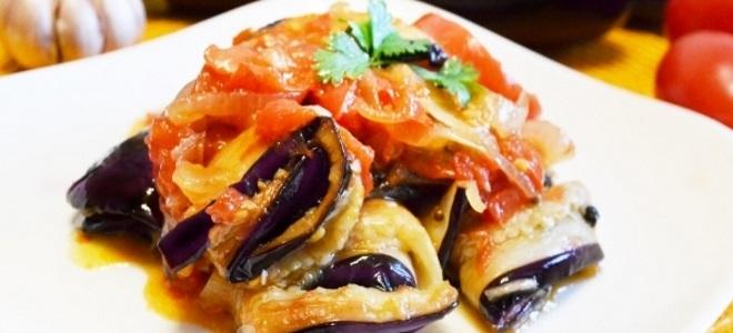 Тещин язык из жареных баклажанов - рецепт пошаговый с фото