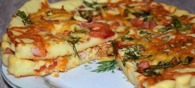 Тесто для пиццы со сметаной и дрожжами