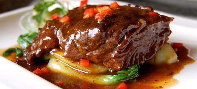 рецепт мясо тушеное с фото