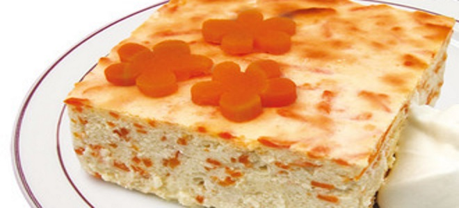 творожно морковная запеканка