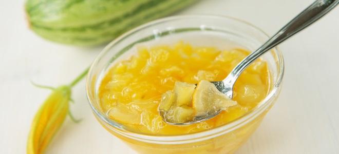 Варенье из кабачков и лимона
