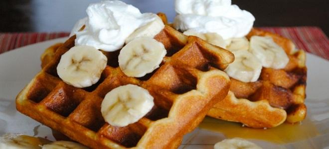 Вафли с бананом без сахара - рецепт пошаговый с фото