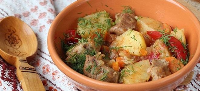 Жаркое из свинины в рукаве в духовке