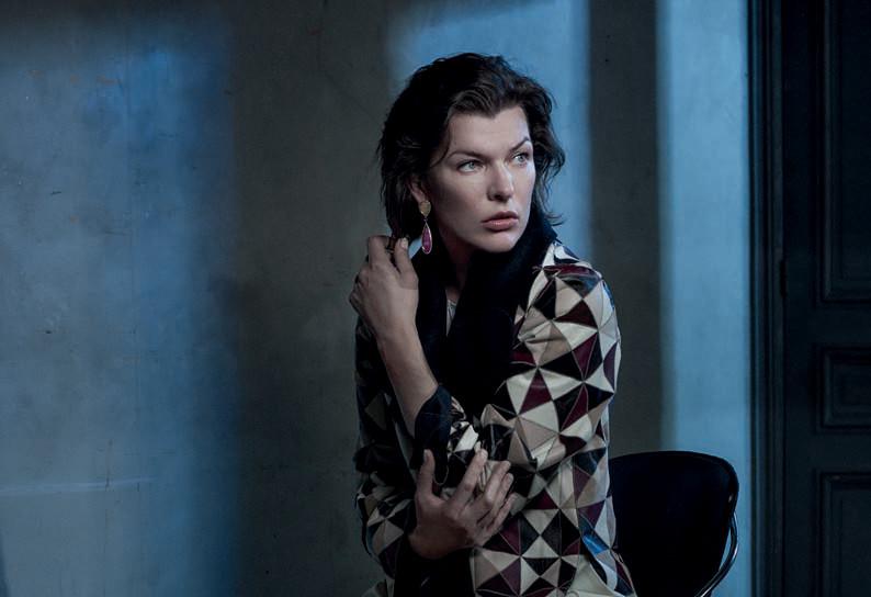 Два образа Милы Йовович для Vogue и ELLE милла йовович шок и трепет смотреть
