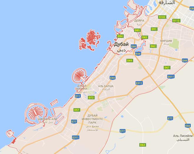 Пляжи дубай на карте показать недвижимость в неаполе