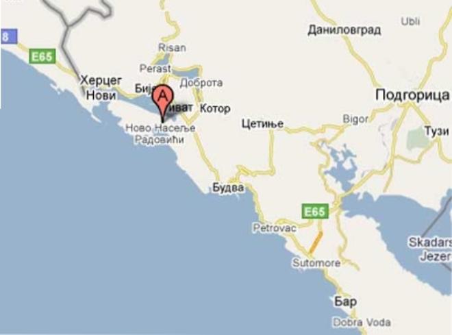 Где находятся Радовичи в Черногории