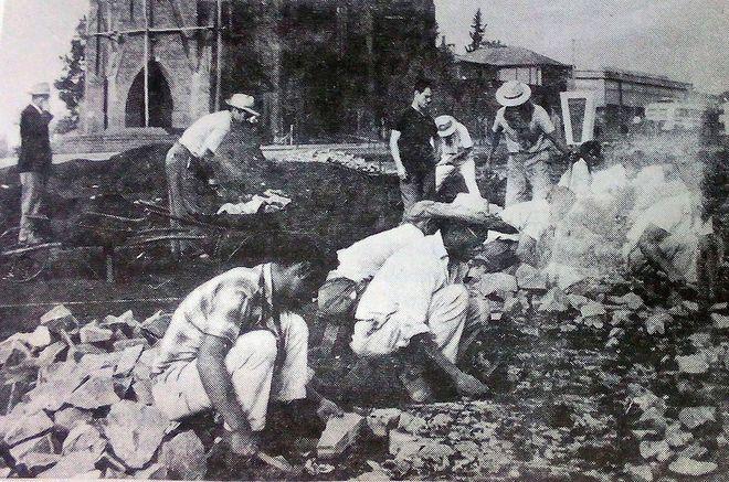 Строительство первой дороги в Обере