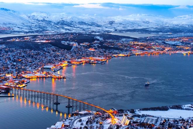 Тромсейский мост Тромсе Тромсе tromseyskiy most