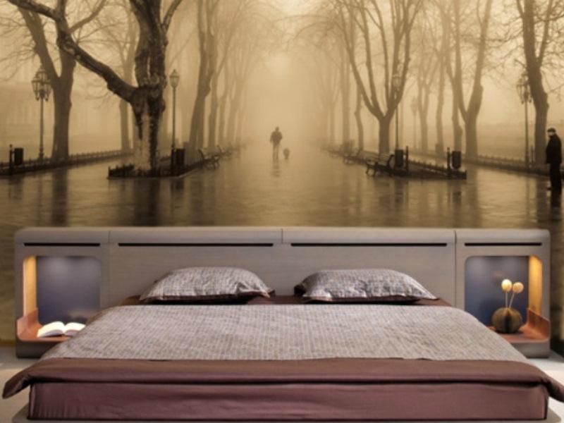 спальня фотообои дизайн фото