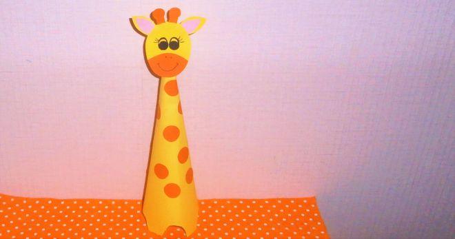 Поделки с жирафами из бумаги 124