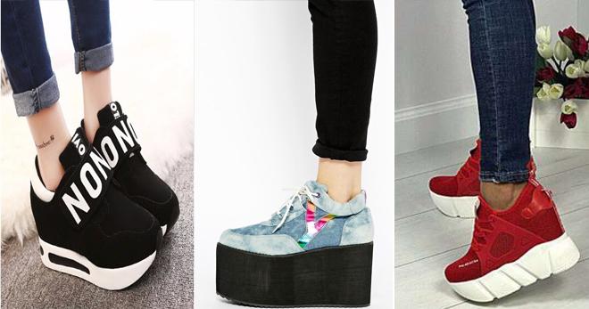 Кроссовки на платформе − с чем носить и как создать стильный образ  b47781a04e9