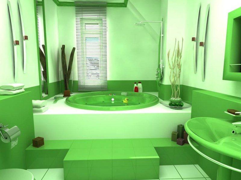 Зеленый цвет в интерьере - Дизайн интерьера Декор своими 80